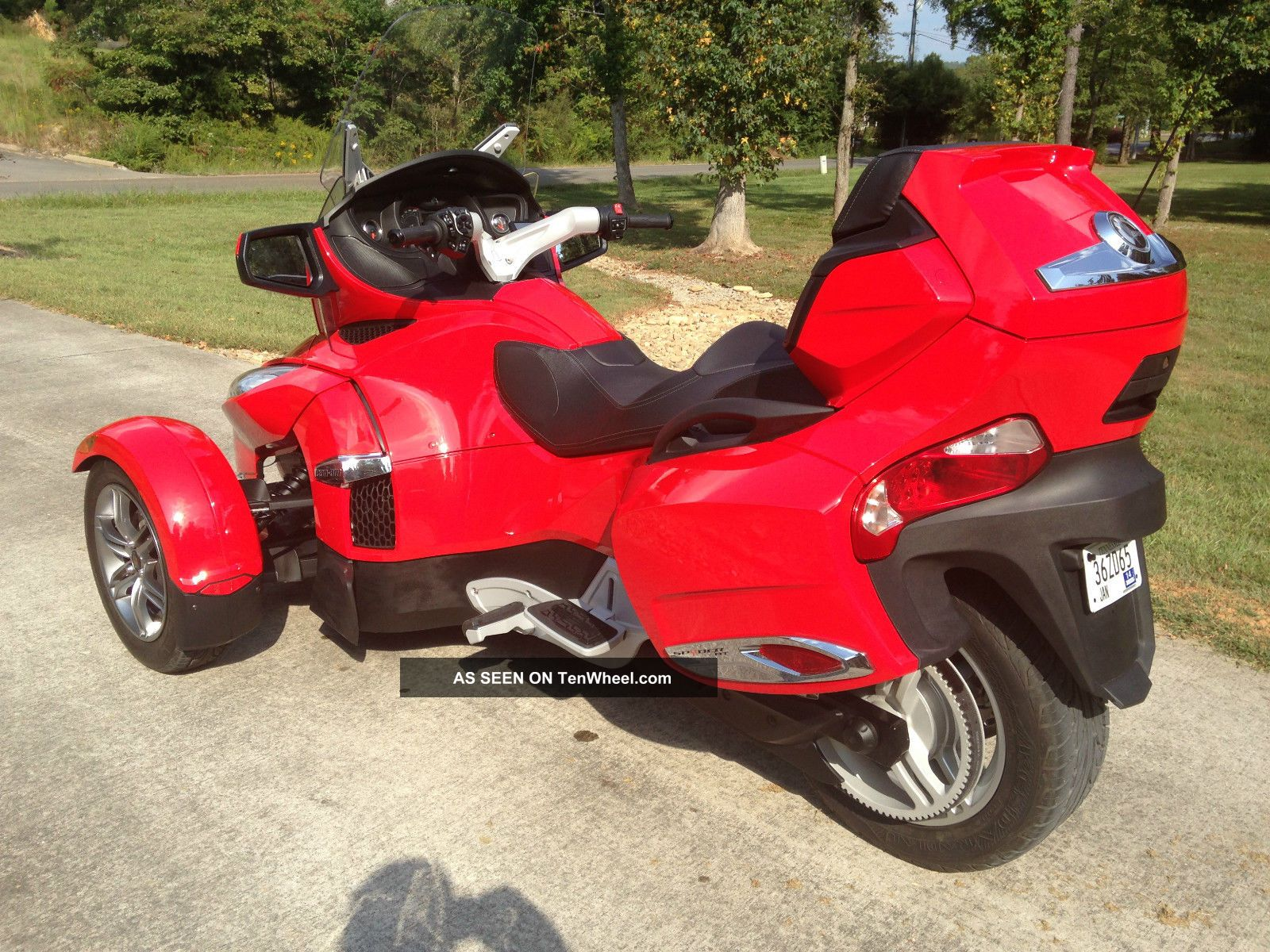 2012 Can Am Spyder Rt Se5 Red Reverse Trike 3 Wheeler