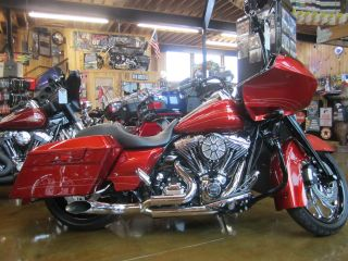 2013 Candy Orange Road Glide With Adj Air Ride,  Custom Rims & Many Other Extras photo