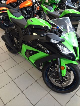 2012 Kawasaki Ninja Zx - 10r Green / Black Zx100jcf photo