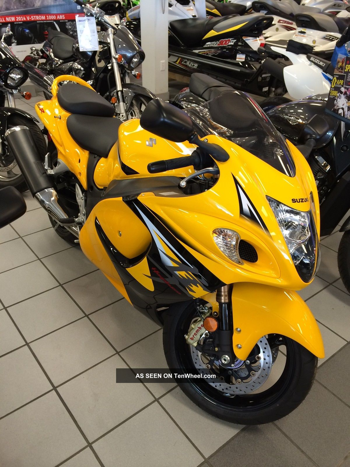 2013 Suzuki Hayabusa L.  E.  Yellow Gsx1300razl3 Hayabusa photo