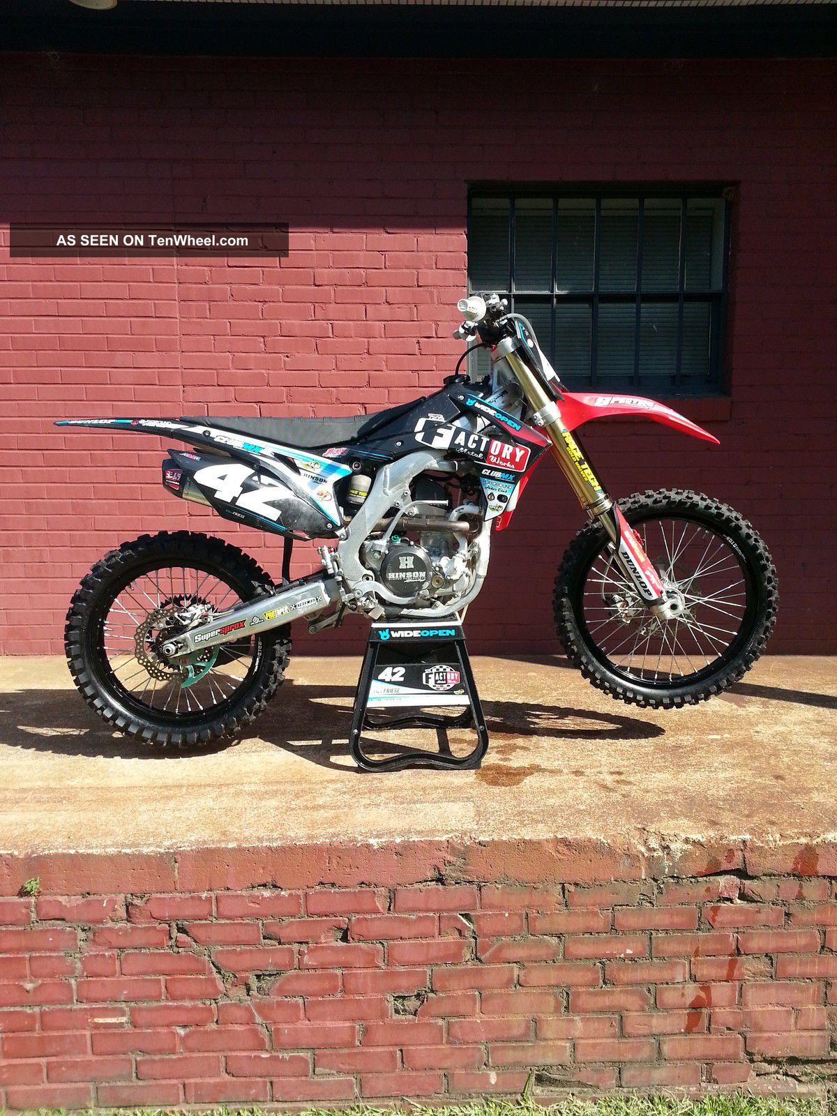2014 Crf 250 Works Factory Like Dirt Bike Moto Mx Sx Supercross Podium Winner CRF photo