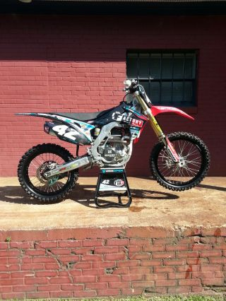 2014 Crf 250 Works Factory Like Dirt Bike Moto Mx Sx Supercross Podium Winner photo