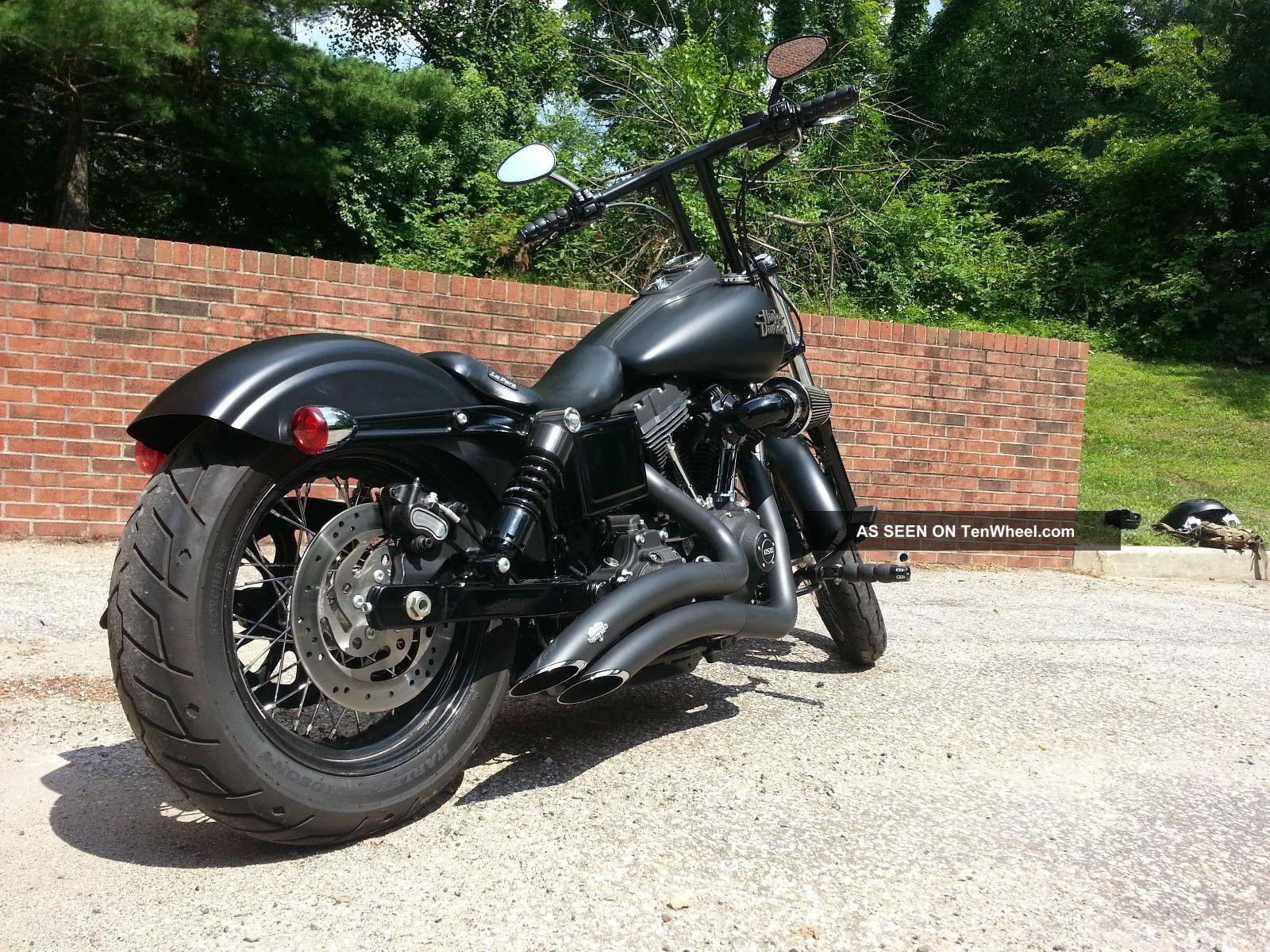2014 Harley Davidson Dyna Street Bob,  Matte Black Dyna photo