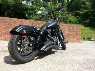 2014 Harley Davidson Dyna Street Bob,  Matte Black photo