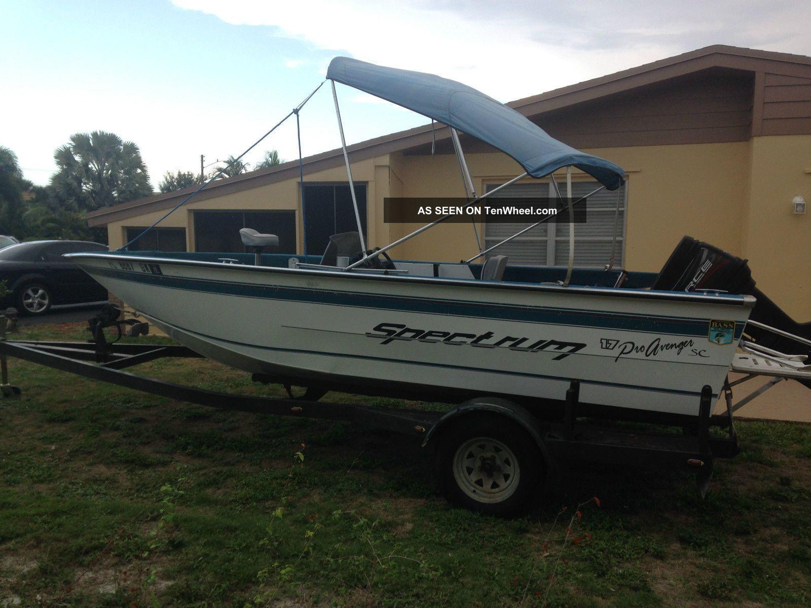 1997 spectrum pro angler for Angler fishing boat