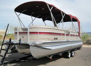 2008 Premier 250 Grand Majestic Ptx Limited Tritoon Pontoon South Bay Jc Lowe photo