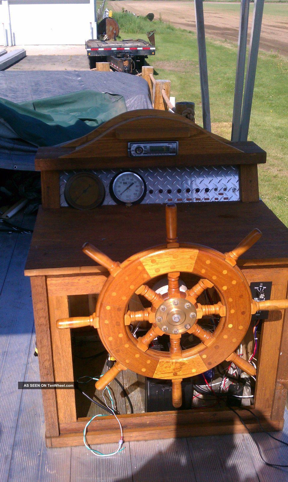 2008 Hand Made Paddle Wheel Diesel Pontoon Boat Kubota