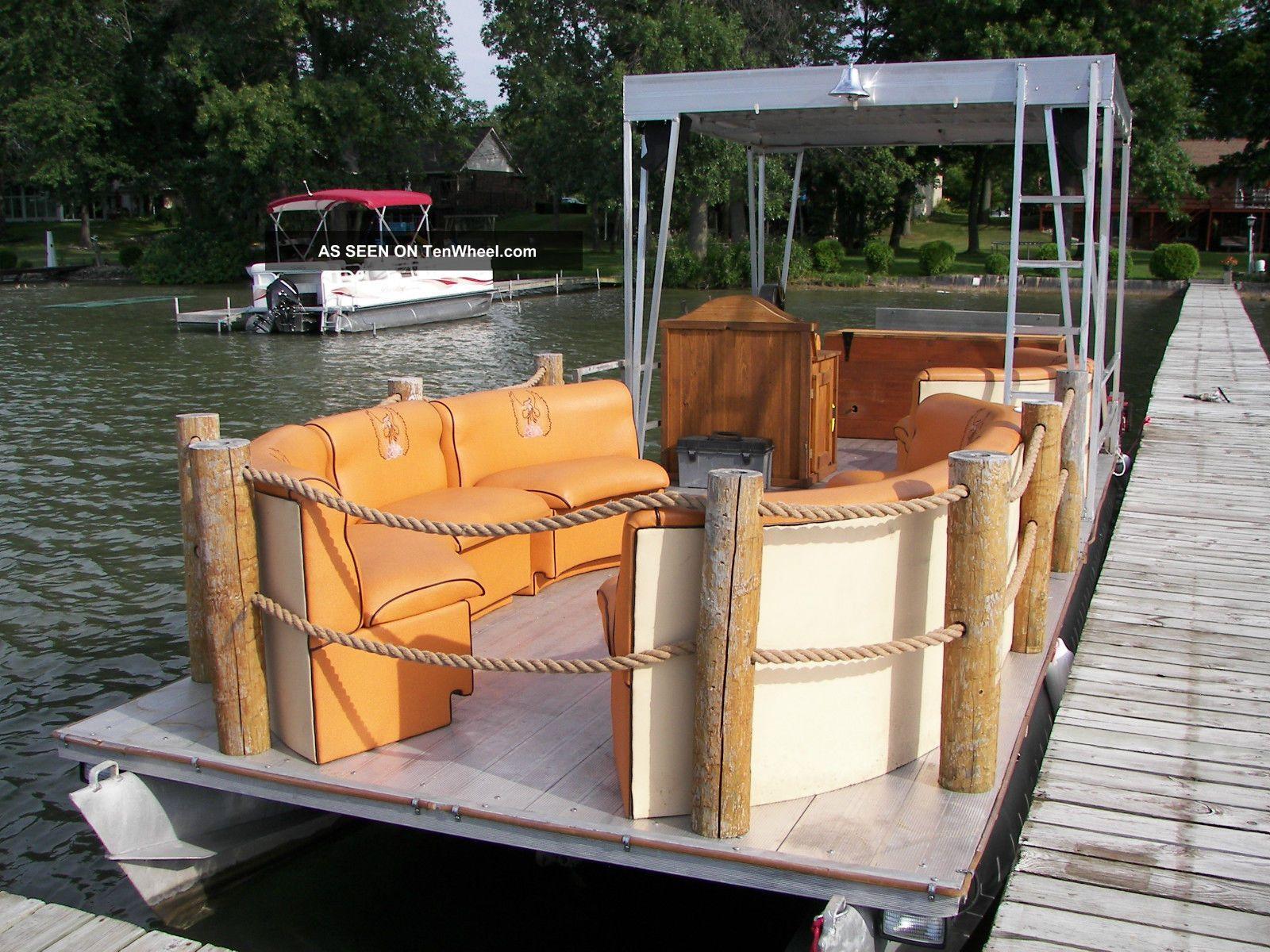 2008 Hand Made Paddle Wheel Diesel Pontoon Boat Kubota Pontoon / Deck Boats photo