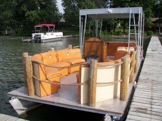 2008 Hand Made Paddle Wheel Diesel Pontoon Boat Kubota photo