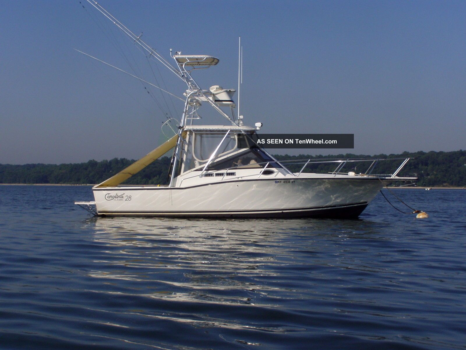 2000 Carolina Classic Twin Yanmar Diesel Offshore Saltwater Fishing photo
