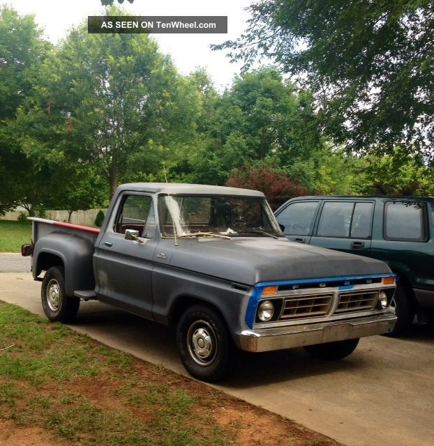 1977 Ford F100 Custom Shortbed Stepside F-100 photo