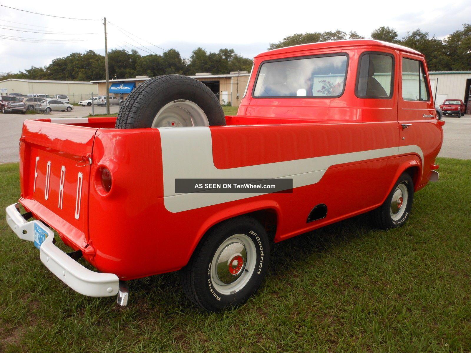 1966 Ford Econoline Pick Up Truck Collector, Orange  Ford Econoline Pickup Trucks