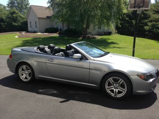 2006 Bmw 650i Convertible 2 - Door 4.  8l Two Keys Manuals Garage Kept Smoke photo