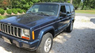 2000 Jeep Dark Blue Jeep Cherokee Sport Limited Record photo