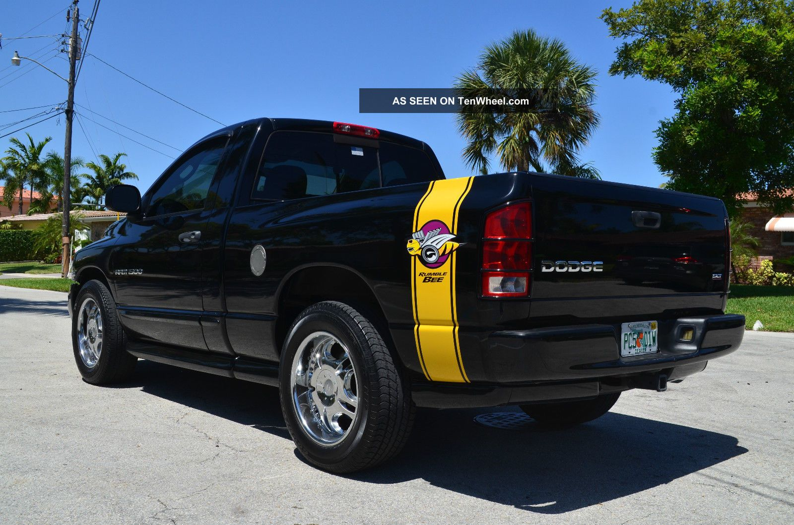 2004 dodge ram 1500 rumble bee hemi car fax florida truck. Black Bedroom Furniture Sets. Home Design Ideas
