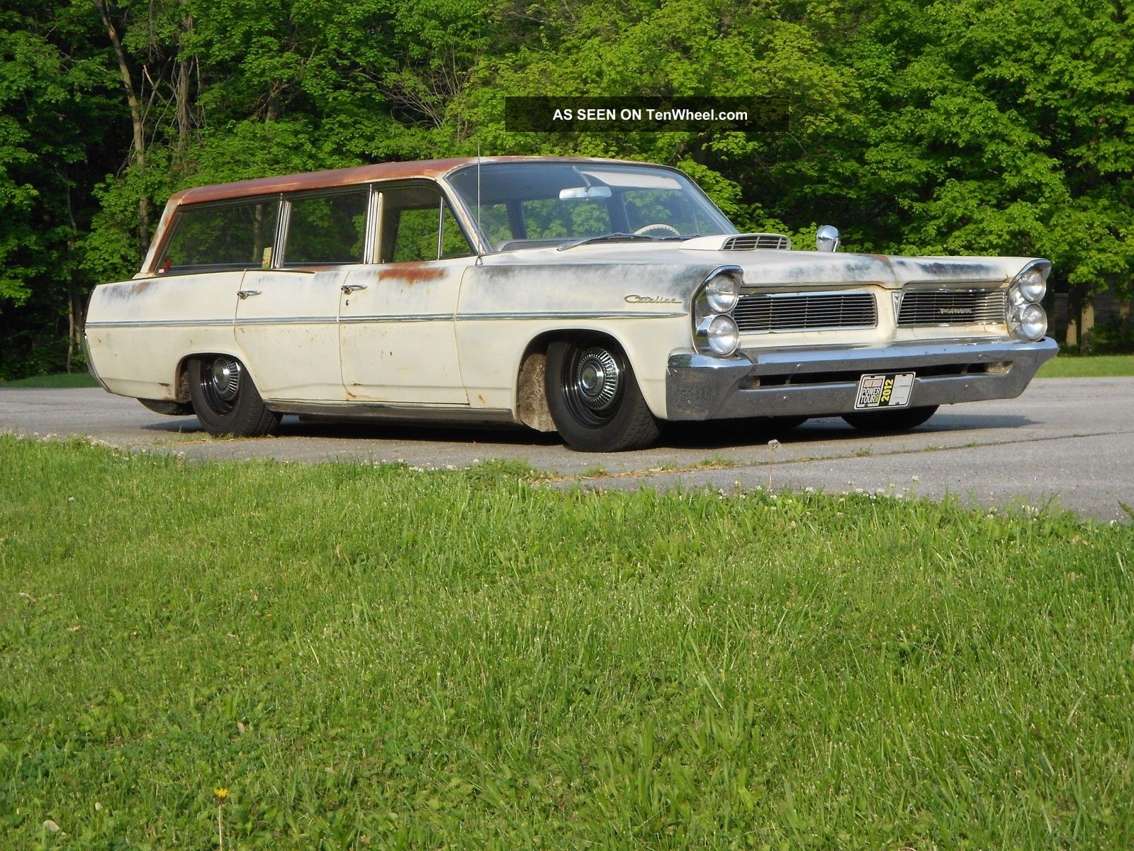 1963 Pontiac Safari Wagon.  Well Sorted,  Full Air Ride,  Crowd Pleaser,  Turn Key Catalina photo