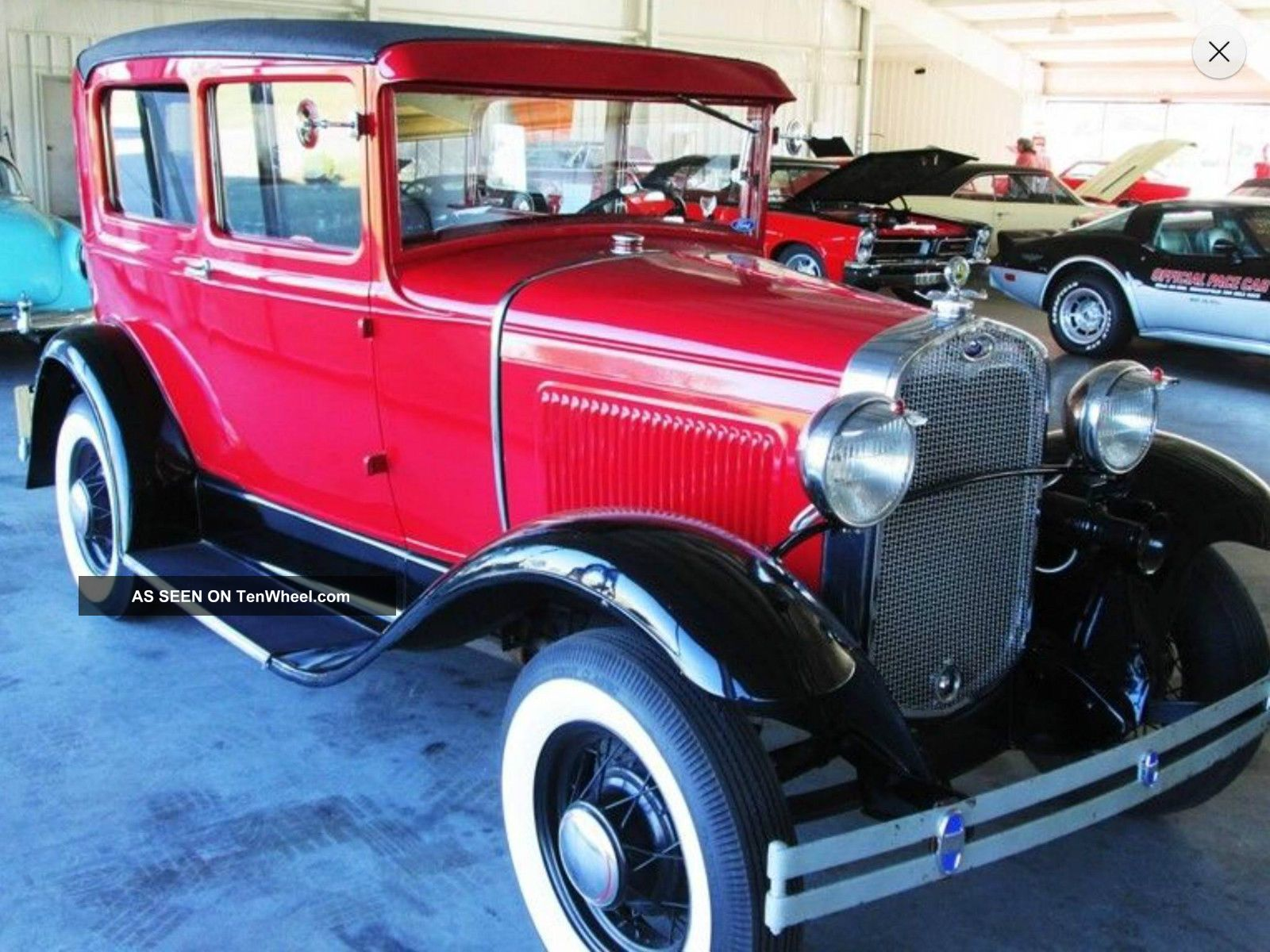Red And Black Ford Model A 1930 With Tan Interior Model A photo