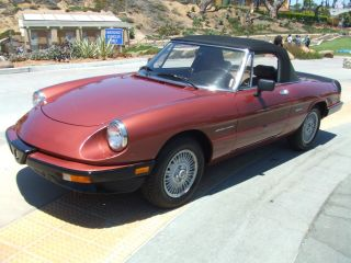 1989 Alfa Romeo Spider Veloce Convertible 2 - Door 2.  0l photo