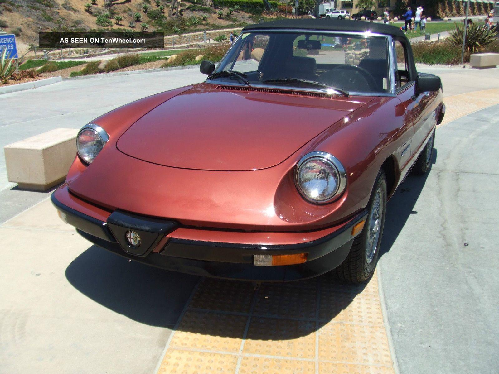 1989 Alfa Romeo Spider Veloce Convertible 2 Door 0l